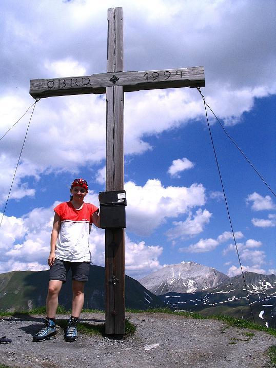 Foto: Andreas Koller / Wander Tour / Glingspitze und Rifflgrat (2433 m) / Kreuzeck-Gipfelkreuz / 24.06.2008 17:58:10