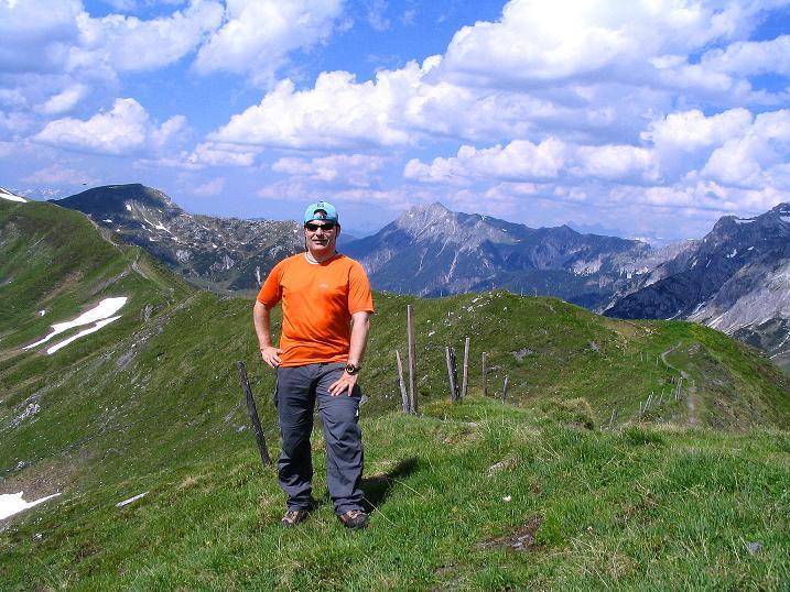 Foto: Andreas Koller / Wander Tour / Glingspitze und Rifflgrat (2433 m) / Am Kreuzeck gegen Kraxenkogel (2436 m) / 24.06.2008 17:57:22