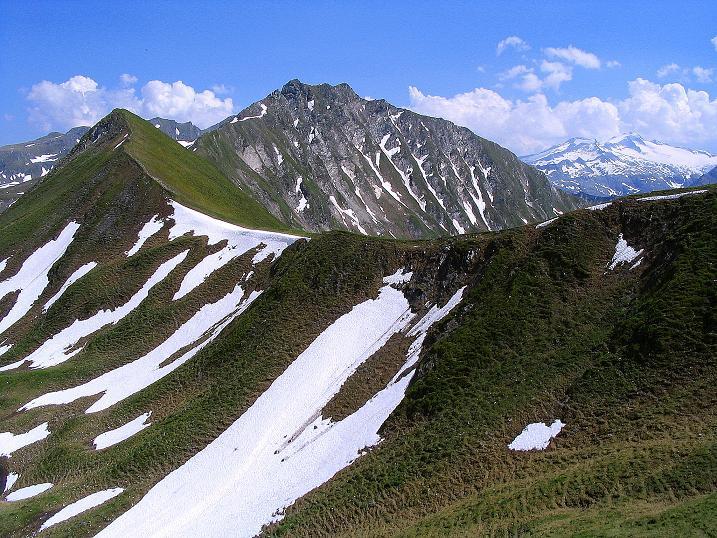 Foto: Andreas Koller / Wander Tour / Glingspitze und Rifflgrat (2433 m) / Glingspitze und Rifflgrat, rechts die Hochalmspitze (3360 m) / 24.06.2008 17:55:45