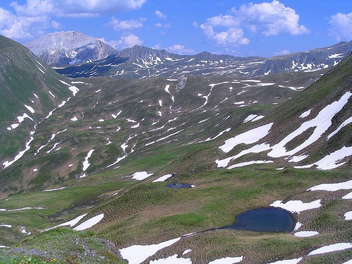 Foto: Andreas Koller / Wander Tour / Glingspitze und Rifflgrat (2433 m) / Blick nach O zum Weißeck (2711 m) / 24.06.2008 17:54:56