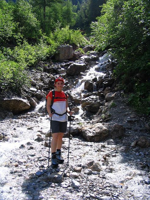 Foto: Andreas Koller / Wander Tour / Glingspitze und Rifflgrat (2433 m) / Rauschendes Wasser im Anstieg zum Tappenkarsee / 24.06.2008 18:19:41