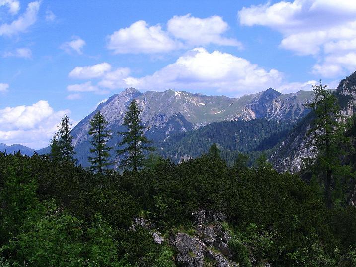 Foto: Andreas Koller / Wander Tour / Glingspitze und Rifflgrat (2433 m) / Die Ennskraxen im N (2410 m) / 24.06.2008 18:17:55