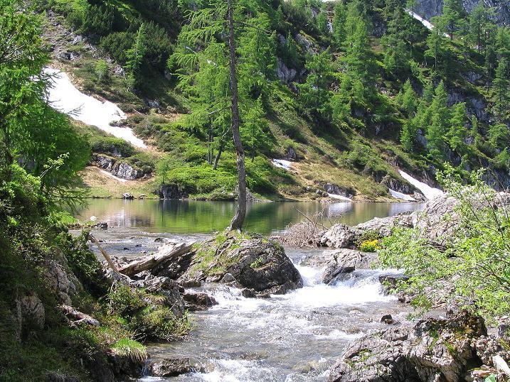 Foto: Andreas Koller / Wander Tour / Glingspitze und Rifflgrat (2433 m) / Nach 1:30 erreicht man den Tappenkarsee / 24.06.2008 18:17:30