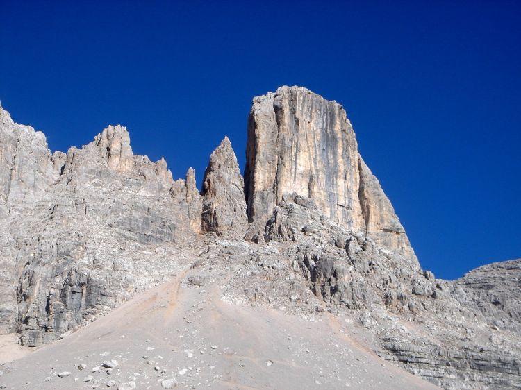 Foto: Manfred Karl / Klettersteig Tour / Civetta Überschreitung - Via ferrata degli Alleghesi und Abstieg über Via ferrata Attilio Tissi / Torre di Valgrande / 19.07.2008 14:36:14