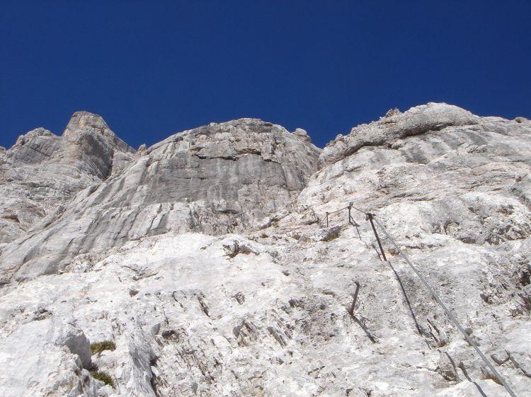 Foto: Manfred Karl / Klettersteig Tour / Civetta Überschreitung - Via ferrata degli Alleghesi und Abstieg über Via ferrata Attilio Tissi / Teilweise herrlicher Fels, der sich auch gut frei klettern lässt / 19.07.2008 14:28:46