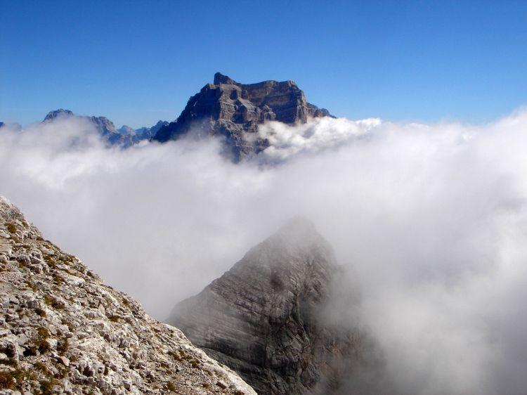Foto: Manfred Karl / Klettersteig Tour / Civetta Überschreitung - Via ferrata degli Alleghesi und Abstieg über Via ferrata Attilio Tissi / Prachtberg Monte Pelmo / 19.07.2008 14:28:13