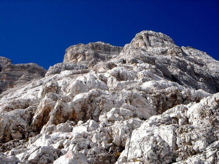 Foto: Manfred Karl / Klettersteig Tour / Civetta Überschreitung - Via ferrata degli Alleghesi und Abstieg über Via ferrata Attilio Tissi / Über weite Strecken geht es recht gemütlich dahin / 19.07.2008 14:27:42
