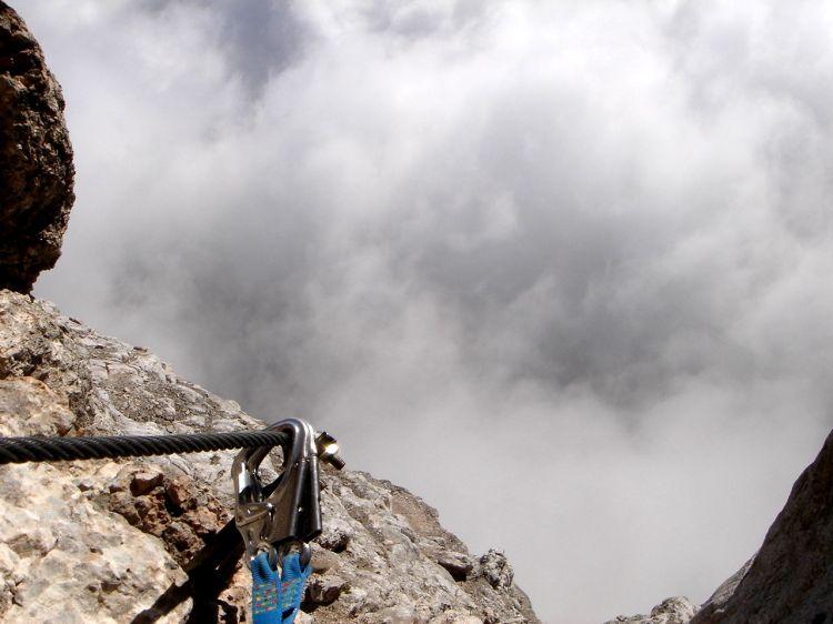 Foto: Manfred Karl / Klettersteig Tour / Civetta Überschreitung - Via ferrata degli Alleghesi und Abstieg über Via ferrata Attilio Tissi / 19.07.2008 14:25:52