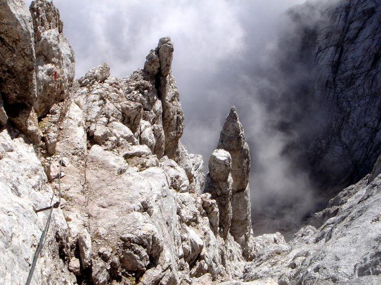 Foto: Manfred Karl / Klettersteig Tour / Civetta Überschreitung - Via ferrata degli Alleghesi und Abstieg über Via ferrata Attilio Tissi / Quergang / 19.07.2008 14:24:37