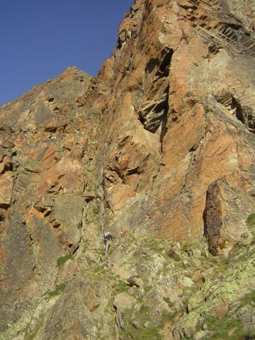 Foto: Wolfgang Lauschensky / Klettersteig Tour / Klettersteig auf das Jägihorn / Klettersteigeinstieg / 15.10.2012 20:45:01