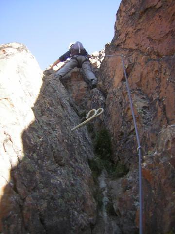 Foto: Wolfgang Lauschensky / Klettersteig Tour / Klettersteig auf das Jägihorn / Verschneidung zum östlichen Gipfel / 15.10.2012 20:44:36
