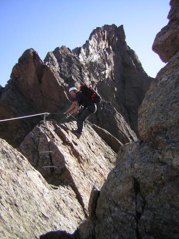 Foto: Wolfgang Lauschensky / Klettersteig Tour / Klettersteig auf das Jägihorn / plattige Schartenquerung / 15.10.2012 20:43:42