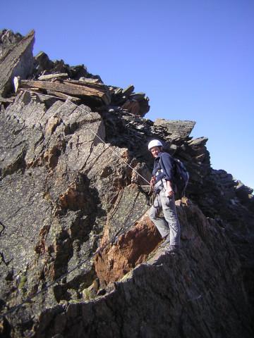Foto: Wolfgang Lauschensky / Klettersteig Tour / Klettersteig auf das Jägihorn / Gipfelaufschwung / 15.10.2012 20:43:00