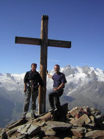 Foto: Wolfgang Lauschensky / Klettersteig Tour / Klettersteig auf das Jägihorn / Jägihorn mit Blick zum Dom / 15.10.2012 20:42:42