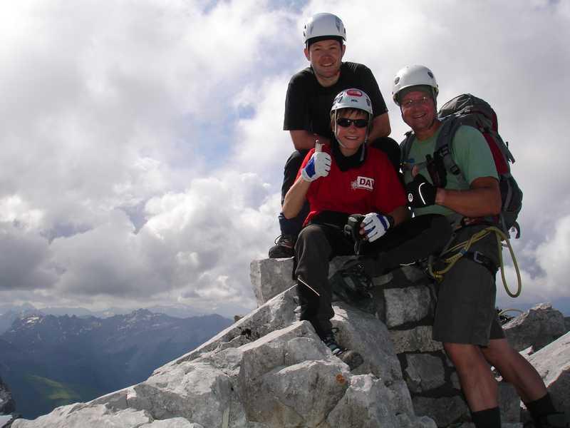Foto: balu_fds / Klettersteig Tour / Klettersteig Blodigrinne auf die Drusenfluh / Gifelfreude am Drusengifel west / 23.08.2008 20:59:05