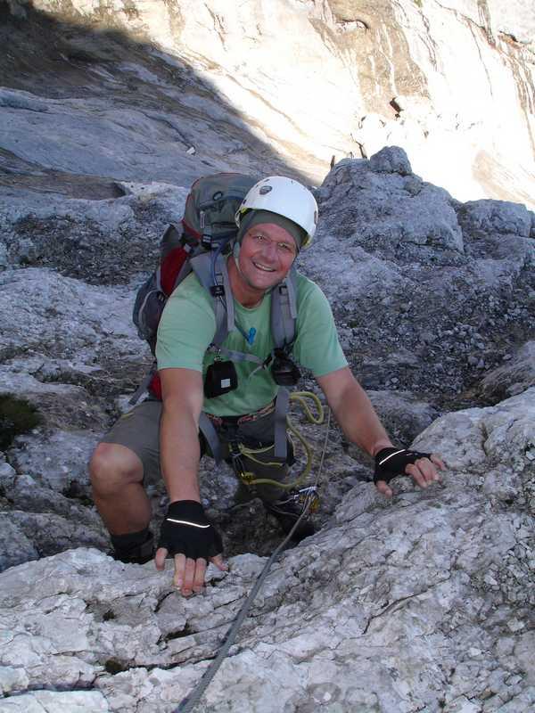 Foto: balu_fds / Klettersteig Tour / Klettersteig Blodigrinne auf die Drusenfluh / Mittlerer Teil 1 / 23.08.2008 20:54:33