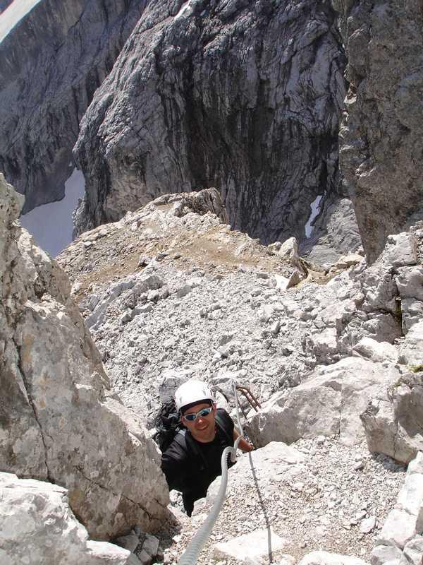 Foto: balu_fds / Klettersteig Tour / Klettersteig Blodigrinne auf die Drusenfluh / Oberer Teil 1 / 23.08.2008 20:55:21
