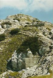 Foto: Wolfgang Dröthandl / Wander Tour / Jof di Somdogna (Köpfach) - Runde / Gipfelanstieg mit Resten aus dem Ersten Weltkrieg / 21.01.2011 08:24:30