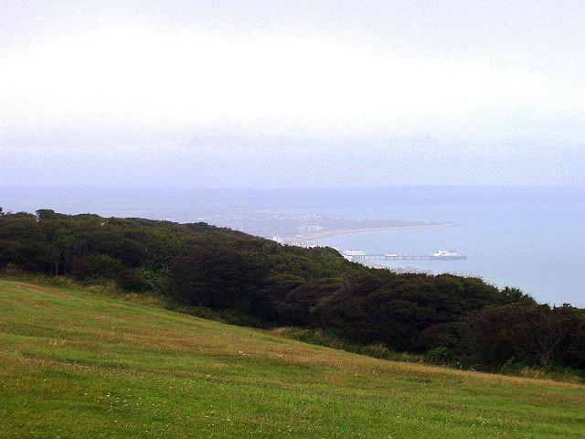 Foto: Andreas Koller / Wander Tour / Beachy Head Walk (201m) / Eastbourne vom Beachy Head / 02.09.2008 23:58:13