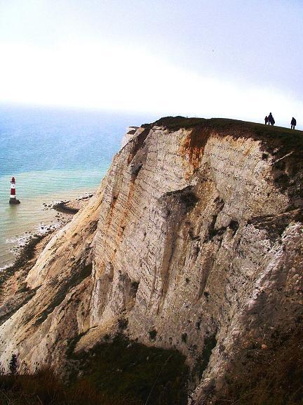 Foto: Andreas Koller / Wander Tour / Beachy Head Walk (201m) / Klippen und Lighthouse Beachy Head / 02.09.2008 23:57:15