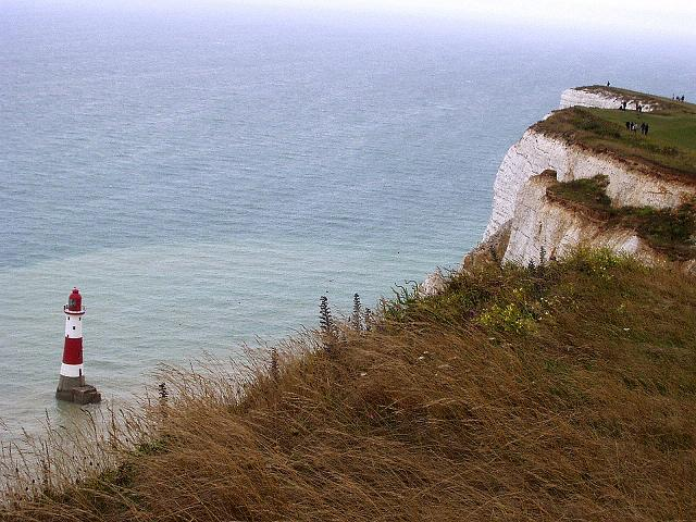 Foto: Andreas Koller / Wander Tour / Beachy Head Walk (201m) / Lighthouse vor Beachy Head / 02.09.2008 23:56:25