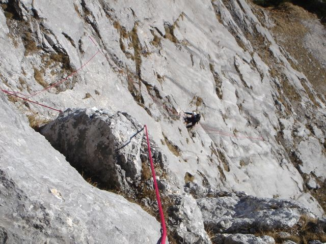 Foto: Manfred Karl / Kletter Tour / Anfängerfreuden V- / Die Platten oberhalb der Schrofenstufe / 05.09.2008 21:04:26