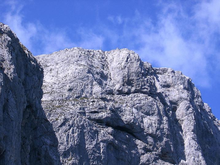 Foto: Andreas Koller / Wander Tour / Mödlinger Hütte und Pfarrmauer (1995 m) / Der Reichenstein-Gipfel (2251 m) von der Pfarrmauer / 08.09.2008 22:20:06