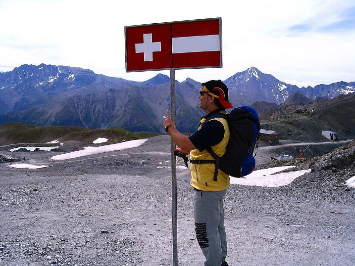 Foto: Andreas Koller / Klettersteig Tour / Flimspitze Klettersteig (2929m) / An der Grenze Österreich - Schweiz am Viderjoch / 08.09.2008 23:17:08