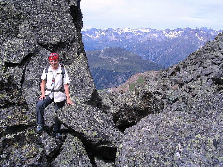 Foto: Andreas Koller / Klettersteig Tour / Flimspitze Klettersteig (2929m) / Grobes Blockwerk im Zustieg / 08.09.2008 23:16:15