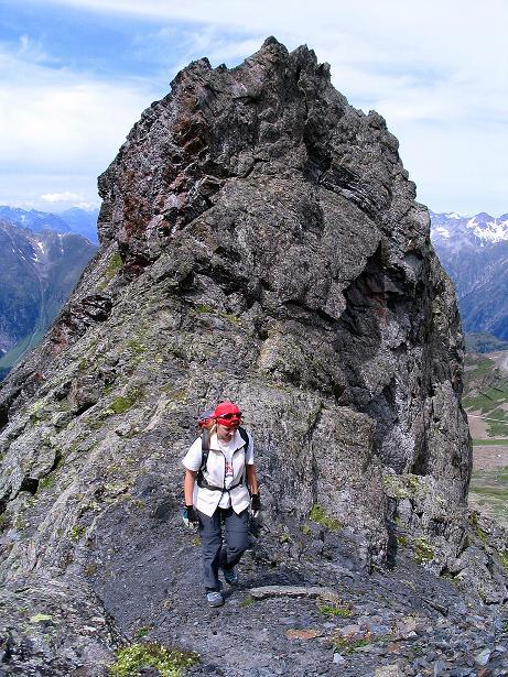 Foto: Andreas Koller / Klettersteig Tour / Flimspitze Klettersteig (2929m) / Die letzten Meter des Zustiegs / 08.09.2008 23:16:02