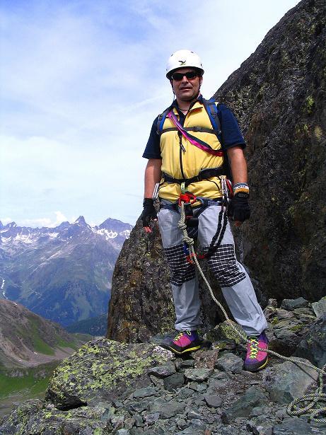 Foto: Andreas Koller / Klettersteig Tour / Flimspitze Klettersteig (2929m) / Beim Einstieg / 08.09.2008 23:15:49