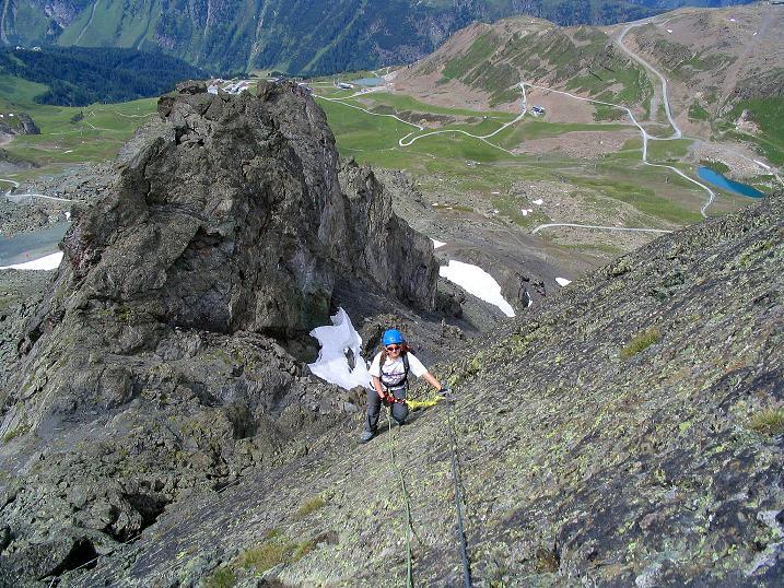 Foto: Andreas Koller / Klettersteig Tour / Flimspitze Klettersteig (2929m) / Luftig in der SW-Platte / 08.09.2008 23:15:37