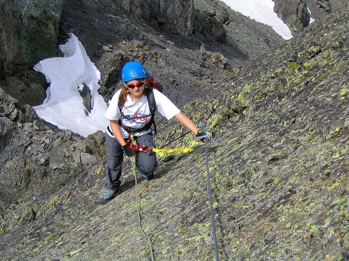 Foto: Andreas Koller / Klettersteig Tour / Flimspitze Klettersteig (2929m) / Die SW-Platte / 08.09.2008 23:15:21