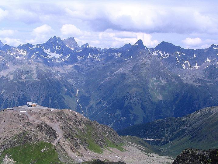 Foto: Andreas Koller / Klettersteig Tour / Flimspitze Klettersteig (2929m) / Blick nach W in die Verwall-Gruppe / 08.09.2008 23:13:39