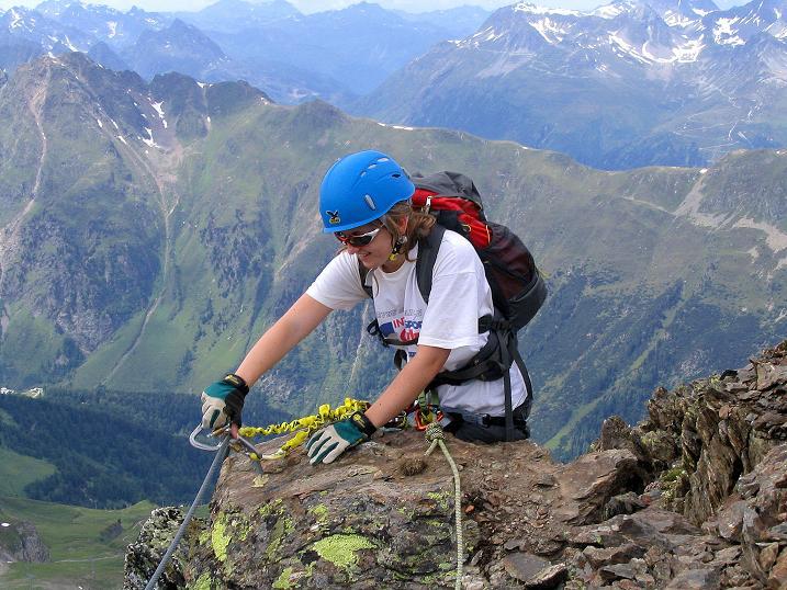 Foto: Andreas Koller / Klettersteig Tour / Flimspitze Klettersteig (2929m) / Am SW-Grat / 08.09.2008 23:11:53