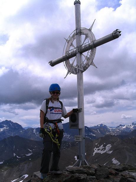 Foto: Andreas Koller / Klettersteig Tour / Flimspitze Klettersteig (2929m) / Flimspitz-Gipfelkreuz / 08.09.2008 23:11:08