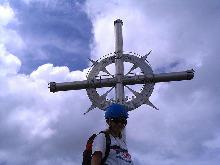 Foto: Andreas Koller / Klettersteig Tour / Flimspitze Klettersteig (2929m) / Das schöne Gipfelkreuz der Flimspitze / 08.09.2008 23:10:51