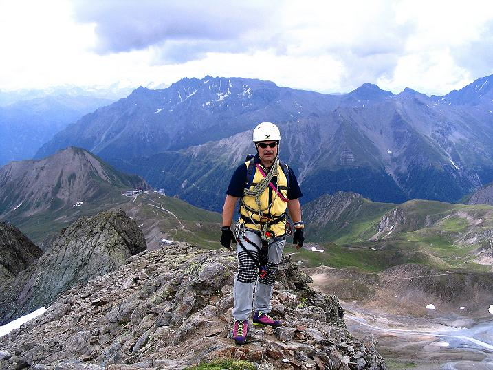 Foto: Andreas Koller / Klettersteig Tour / Flimspitze Klettersteig (2929m) / Am Flimspitz-Gipfel / 08.09.2008 23:10:31