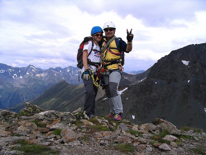 Foto: Andreas Koller / Klettersteig Tour / Flimspitze Klettersteig (2929m) / Gipfelfreuden / 08.09.2008 23:10:15