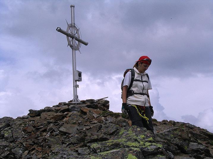 Foto: Andreas Koller / Klettersteig Tour / Flimspitze Klettersteig (2929m) / Abstieg vom Gipfel am Normalweg (N-Grat) / 08.09.2008 23:09:22