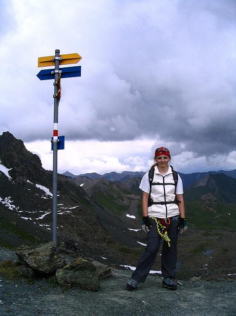 Foto: Andreas Koller / Klettersteig Tour / Flimspitze Klettersteig (2929m) / Am Flimjoch / 08.09.2008 23:07:47