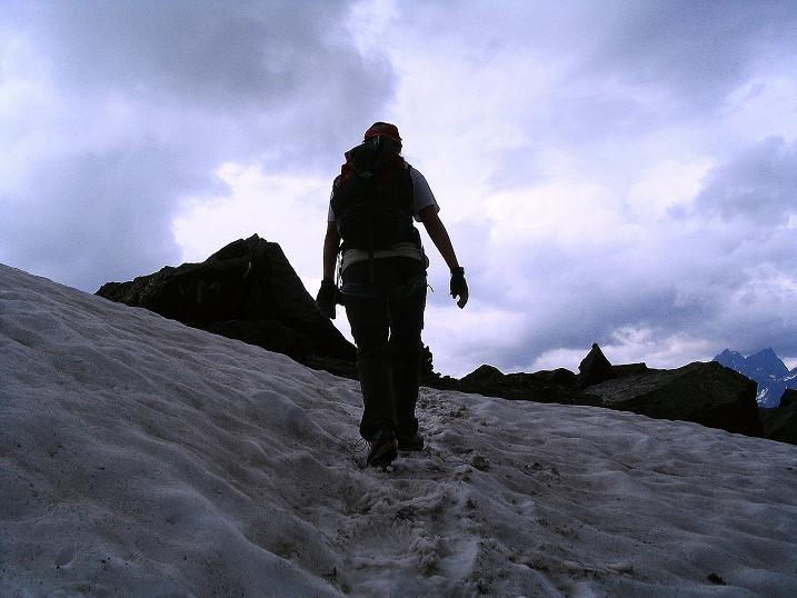 Foto: Andreas Koller / Klettersteig Tour / Flimspitze Klettersteig (2929m) / Rückweg zum Viderjoch / 08.09.2008 23:06:24