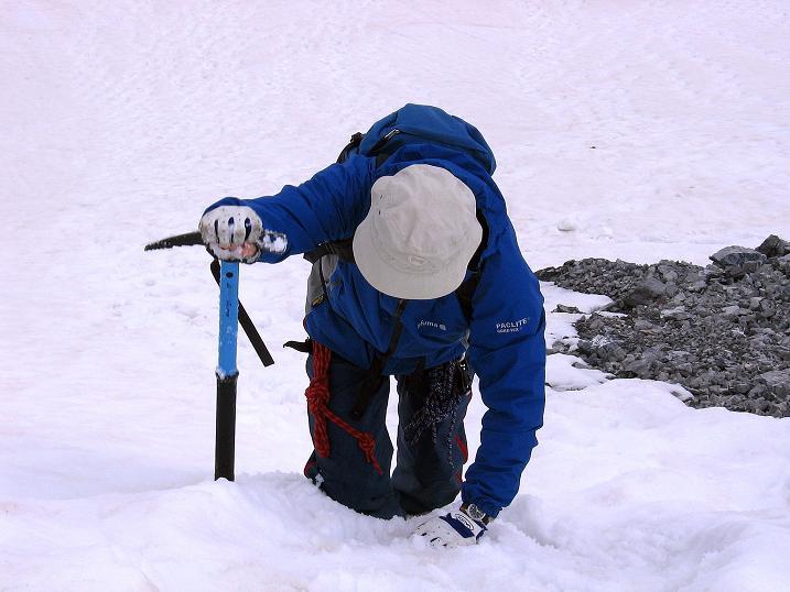 Foto: Andreas Koller / Wander Tour / Vom Monte Livrio auf die Hohe Schneide (3434m) / Steiler Einstieg auf den Grat / 09.09.2008 23:10:22