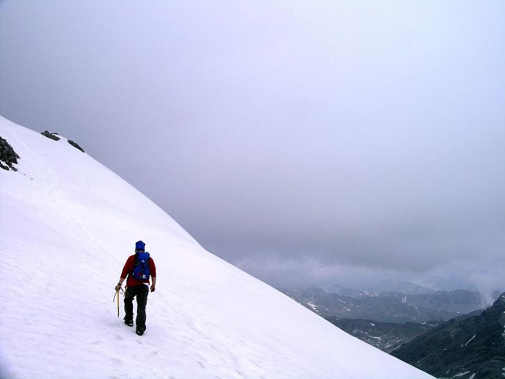 Foto: Andreas Koller / Wander Tour / Vom Monte Livrio auf die Hohe Schneide (3434m) / Am O-Grat der Hohen Schneide / 09.09.2008 23:09:51