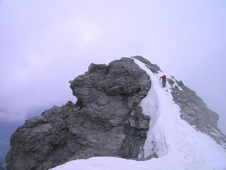 Foto: Andreas Koller / Wander Tour / Vom Monte Livrio auf die Hohe Schneide (3434m) / Grattour zum höchsten Punkt / 09.09.2008 23:07:52