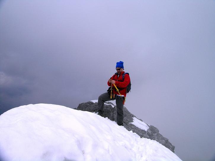 Foto: Andreas Koller / Wander Tour / Vom Monte Livrio auf die Hohe Schneide (3434m) / Aufbruch vom Gipfel / 09.09.2008 23:07:20
