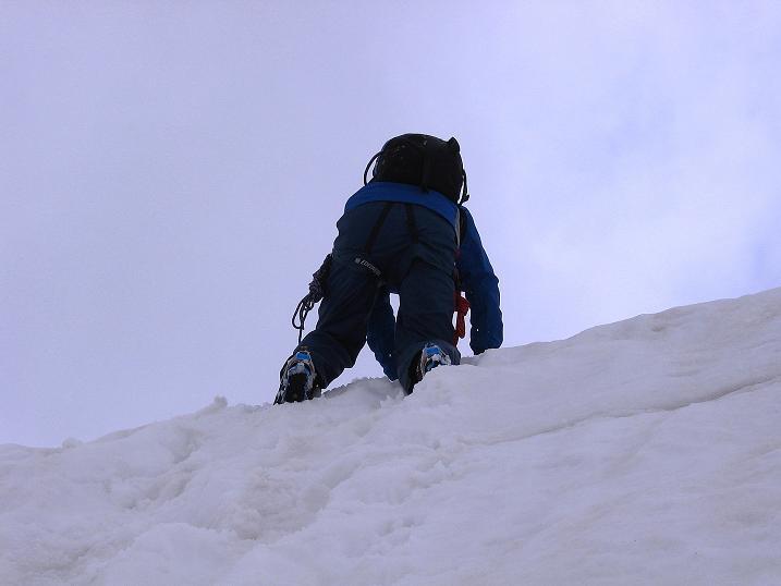 Foto: Andreas Koller / Wander Tour / Vom Monte Livrio auf die Hohe Schneide (3434m) / Steiler Abstieg vom Grat / 09.09.2008 23:06:17