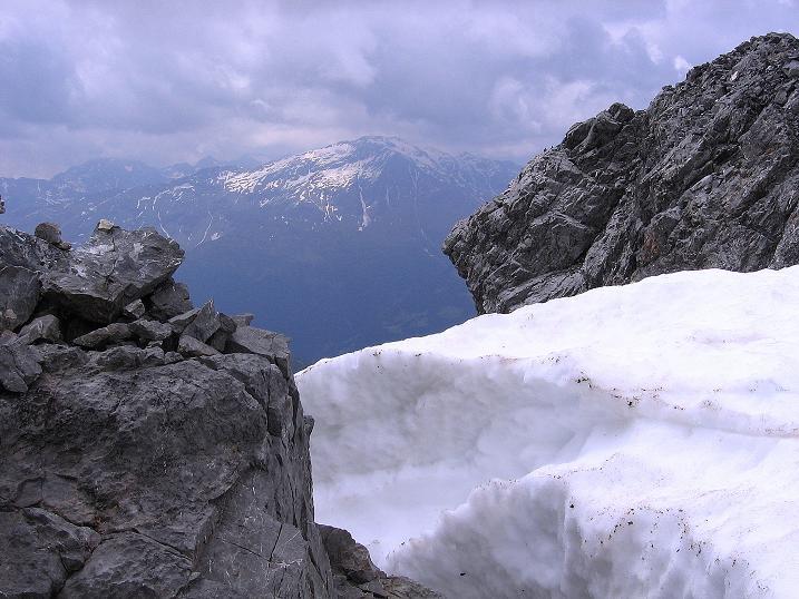 Foto: Andreas Koller / Wander Tour / Vom Monte Livrio auf die Hohe Schneide (3434m) / Blick vom Passo di Sasso Rotondo nach SW / 09.09.2008 23:05:35