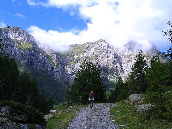 Foto: Andreas Koller / Klettersteig Tour / Via Sartor auf den Hochweißstein / Monte Peralba (2694m) / Start der Tour im Frohntal / 10.09.2008 00:12:51