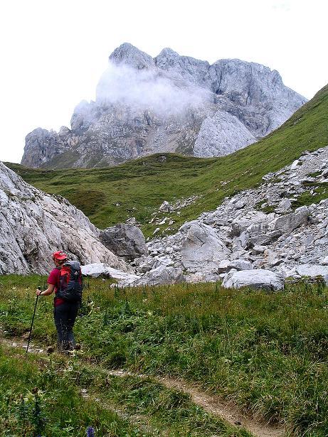 Foto: Andreas Koller / Klettersteig Tour / Via Sartor auf den Hochweißstein / Monte Peralba (2694m) / Der Hochweißstein / 10.09.2008 00:10:31